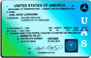 FAA UAS Certificate
