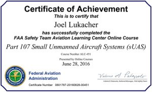 FAA Safety Certificate